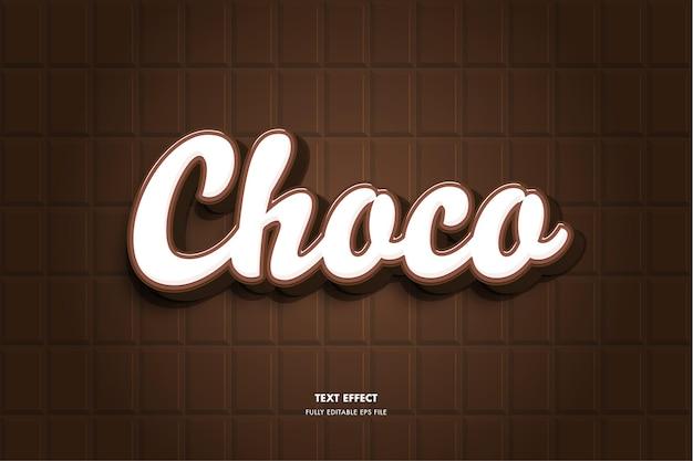 Effetto testo cioccolato