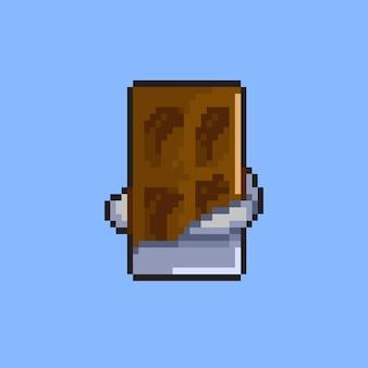 Barretta di cioccolato con stile pixel art