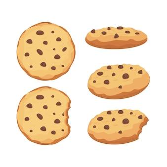 I biscotti di pepita di cioccolato hanno messo l'illustrazione