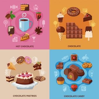 Concetto di cioccolato