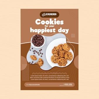 Modello di poster di biscotti al cioccolato