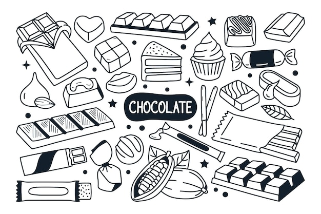 Illustrazione di scarabocchio al cioccolato