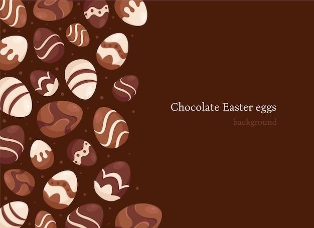 Priorità bassa delle uova di pasqua del cioccolato. dolci pasquali