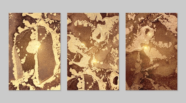 Trame astratte in marmo oro e cioccolato