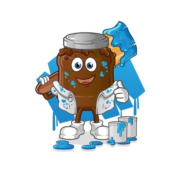 Il pittore della marmellata di cioccolato. personaggio