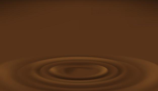 Goccia di cioccolato al latte con spruzzi d'onda