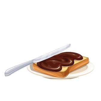 Cioccolato da spalmare su pane tostato