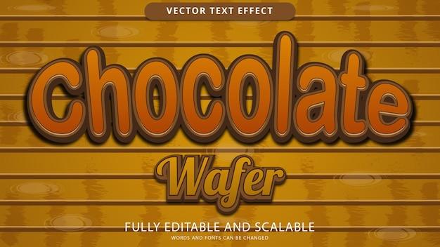 Effetto testo wafer al cioccolato modificabile