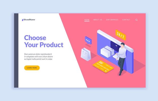 Scegli il modello della pagina di destinazione del tuo prodotto