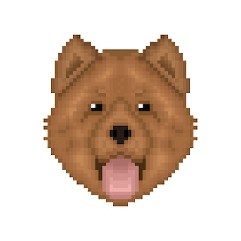 Chowchow ritratto pixel art