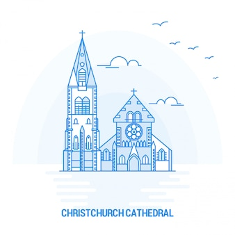 Christchurch cathedral blue landmark