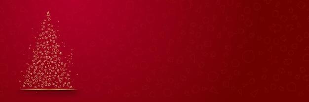 Design di natale e capodanno 2022 eleganti palle di natale realistiche in oro rosso e decorazioni dorate dorate ...