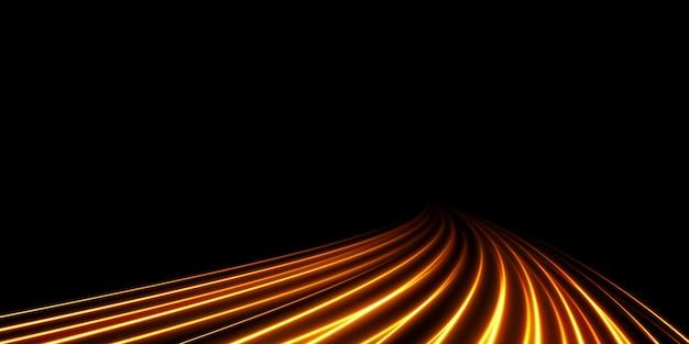 Sfondo astratto di natale di linee morbide di luce dorata linee dorate di velocità nuovo 2022