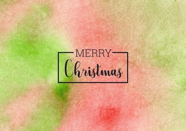 Natale abustract sfondo acquerello verde e rosso