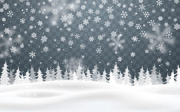 Sfondo di natale di neve che cade