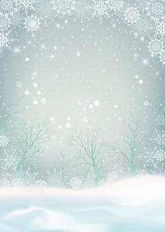 Sfondo di natale con nevicate