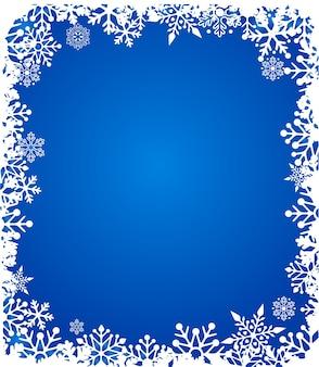 Sfondo di natale con motivo a fiocchi di neve