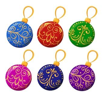 Palle di natale decorazioni natalizie per l'albero di natale e giocattoli luminosi per la casa