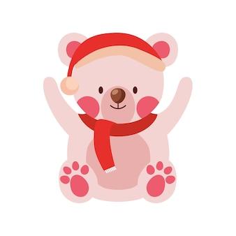 Cartone animato orso di natale