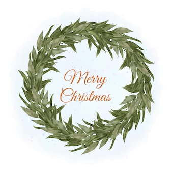 Natale boho holly wreath con foglie di salice