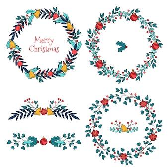 Collezione di bordi e cornici natalizie