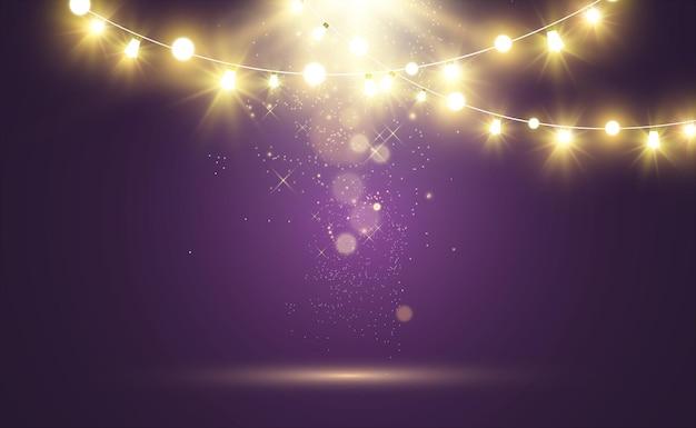 Progettazione di luci luminose di natale