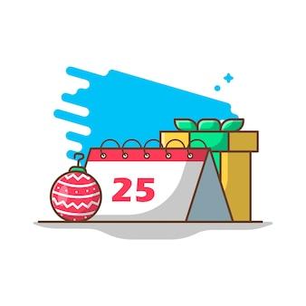 Illustrazioni del calendario di natale.