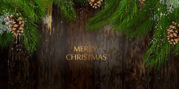 Cartolina di natale con una composizione di elementi festivi come la stella d'oro