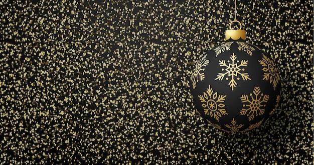 Cartolina di natale con sfondo sfumato di texture glitter oro glitter dorato