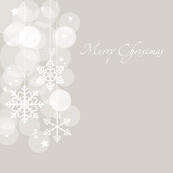 Cartolina di natale con fiocchi di neve