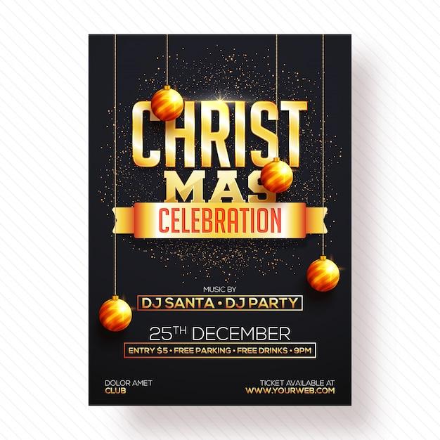 Natale poster, banner o flyer design.