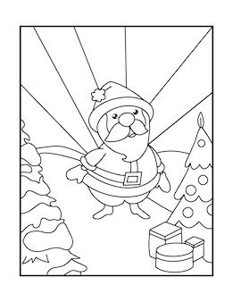 Disegni da colorare natalizi per bambini in età prescolare e bambini piccoli