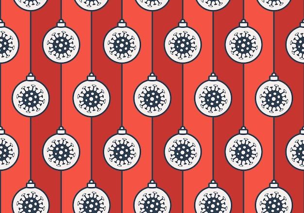 Natale covid seamless pattern illustrazione