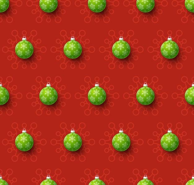 Natale covid seamless pattern