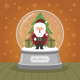 Christmas crystalball babbo natale