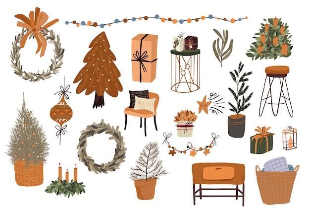 Natale simpatico cartone animato elementi di arredamento per interni scenografia adesivo