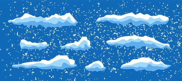 Natale decorato di snowcaps illustrazione