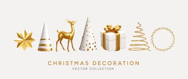 Collezione di decorazioni natalizie