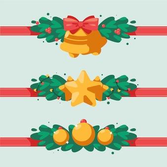 Decorazione natalizia in design piatto
