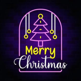 Idee per decorazioni natalizie design al neon