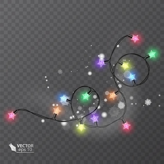 Elementi di design per effetti di luci per decorazioni natalizie luci incandescenti per il design di biglietti di auguri per le vacanze