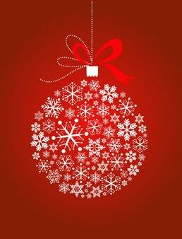 Decorazione natalizia composta da tanti fiocchi di neve. illustrazione vettoriale