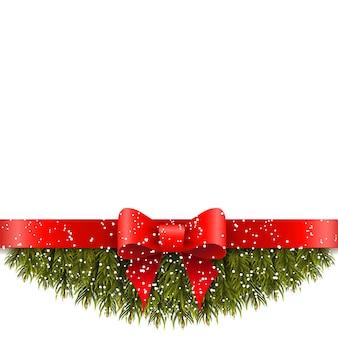 Decorazione natalizia su sfondo bianco.