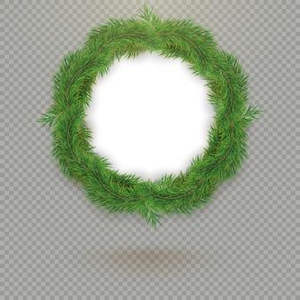 Blocco per grafici decorativo dell'albero di abete di natale con lo spazio e l'ombra della copia.