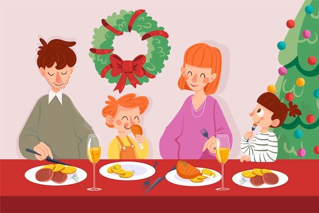 Scena della cena di natale