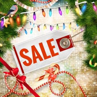 Sconto natalizio, vendita.