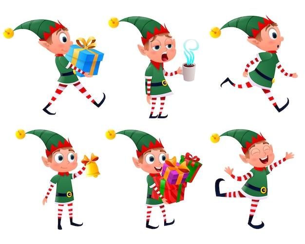 Set di elfi di natale