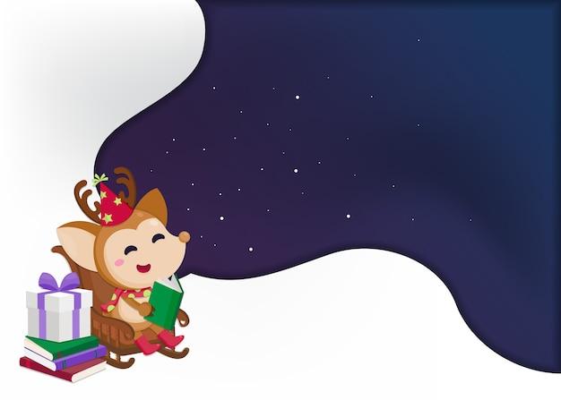 Modello festivo di natale. biglietto di auguri per natale e felice anno nuovo.