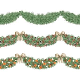 Set di decorazioni floreali di natale