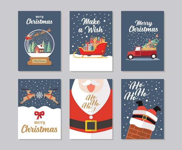 Collezione di carte regalo di natale